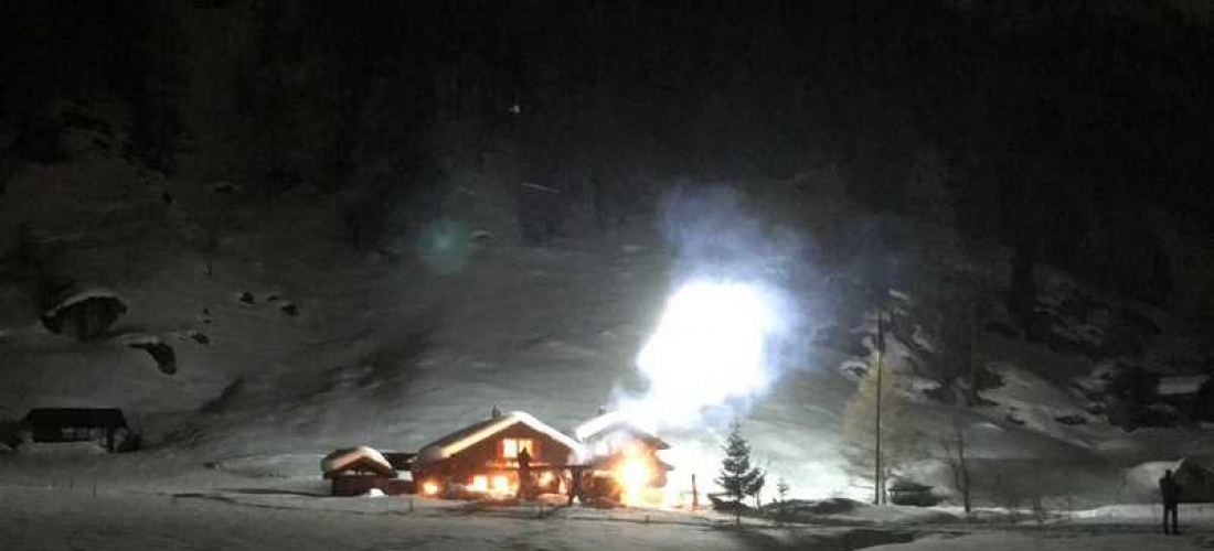 Nachtdreh im Schnee